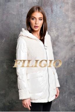 Модная комбинированная куртка