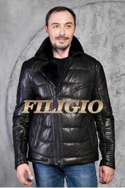 Кожаная стильная куртка